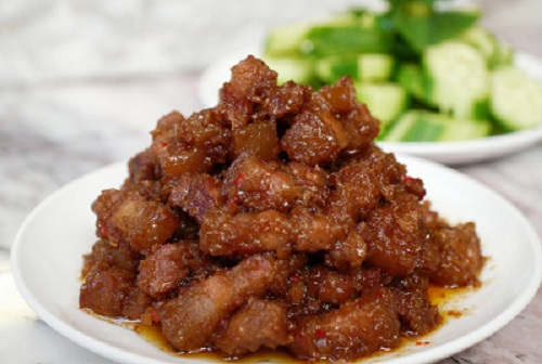 Cách làm thịt kho mắm ruốc ngon