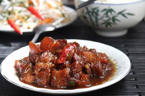 Cách làm thịt kho tiêu ngon