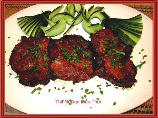 Thịt nướng kiểu thái