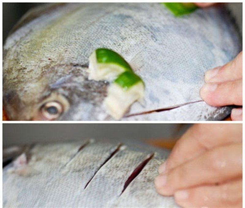 Cá trắm nhồi tỏi tây thơm ngon