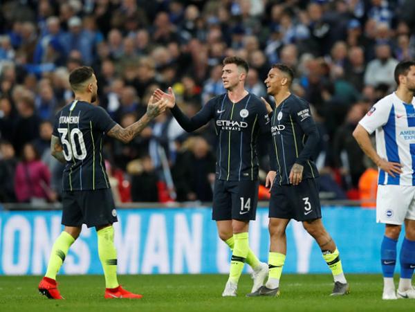 Man City vượt qua Brighton để vào chung kết cup FA