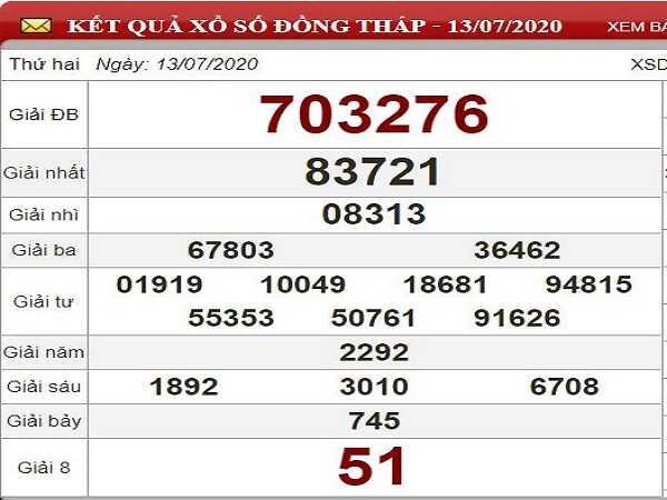 Bảng KQXSDT- Nhận định xổ số đồng tháp ngày 20/07 hôm nay