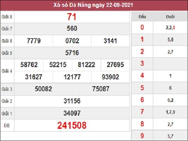 Thống kê XSDNG 25-09-2021